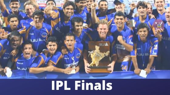 IPL finals all season from 2008 to 2019